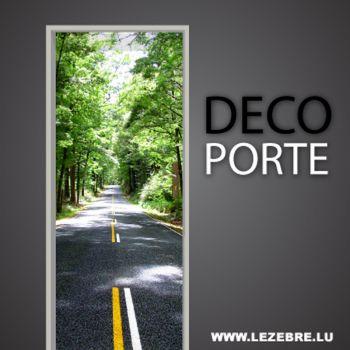 Road door decal
