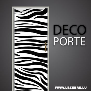 Zebra door decal