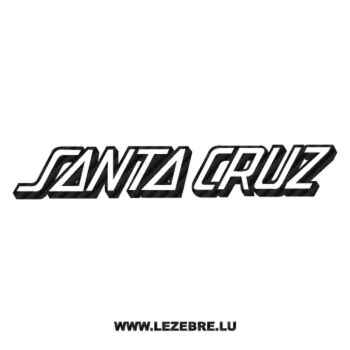 Santa Cruz Logo Carbon Decal 2