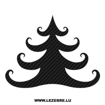 Christmas Tree Carbon Decal 2