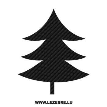 Christmas Tree Carbon Decal