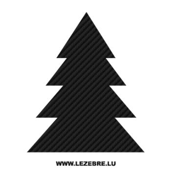 Classic Christmas Tree Carbon Decal