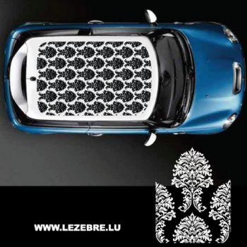 Sticker deco toit auto Fleurs Ornements