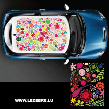 Flowers car roof sticker