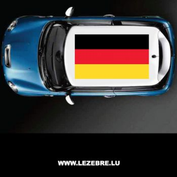 Deutschland flag car roof sticker