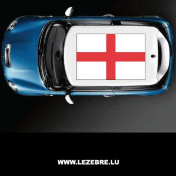 England flag car roof sticker