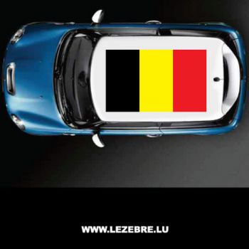 Belgium flag car roof sticker