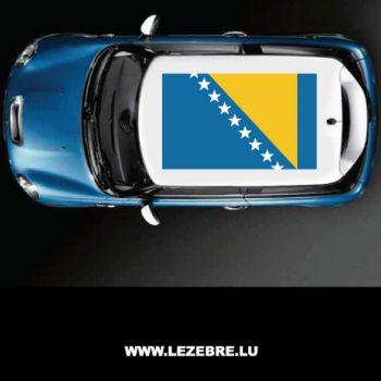 Sticker Toit Auto Drapeau Bosnie-Herzegovina