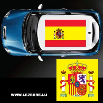 Spain flag car roof sticker