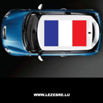 France flag car roof sticker