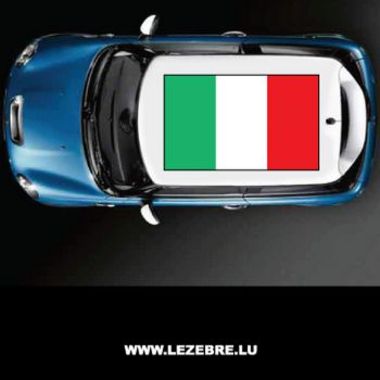 Italy flag car roof sticker