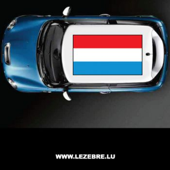 Luxembourg flag car roof sticker