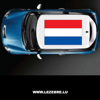 Netherlands flag car roof sticker