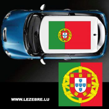 Portugal flag car roof sticker