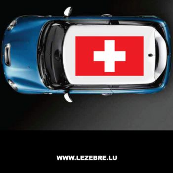 Switzerland flag car roof sticker