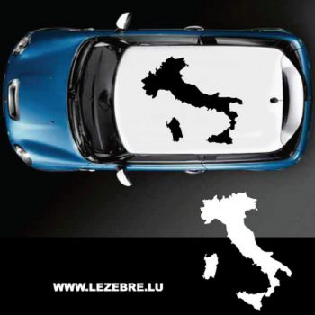 Italy Silhouette Car Roof Decal