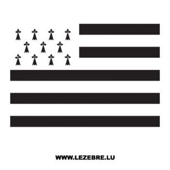 Sticker Drapeau Bretagne Breizh BZH