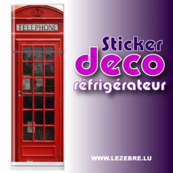 British Telephone Booth Fridge Sticker