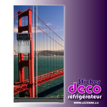 Stickers frigo Golden Gate