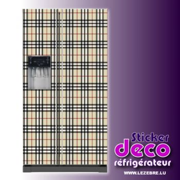 Stickers frigo Motif Burberry
