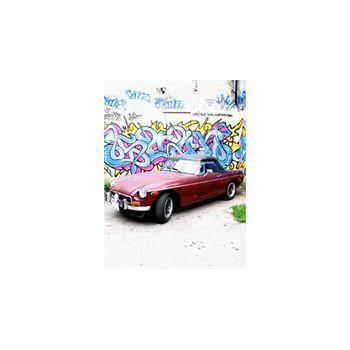 Sticker géant Graffiti Voiture MG Américaine