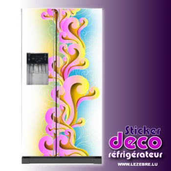 Stickers frigo Ornements Couleurs