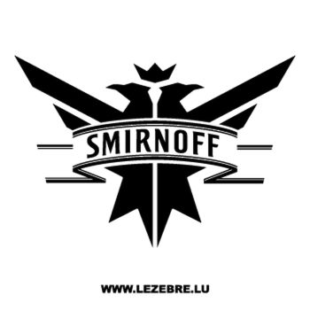 Sticker Smirnoff Logo