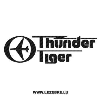 Thunder Tiger Logo Carbon Decal