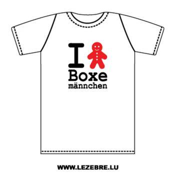 T-Shirt I love Boxemännchen
