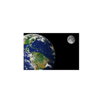 Sticker Déco Terre et la lune