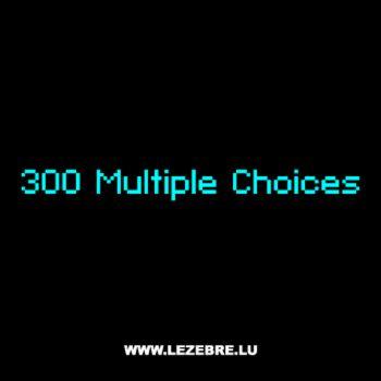 T-Shirt Geek 300 Multiple Choices