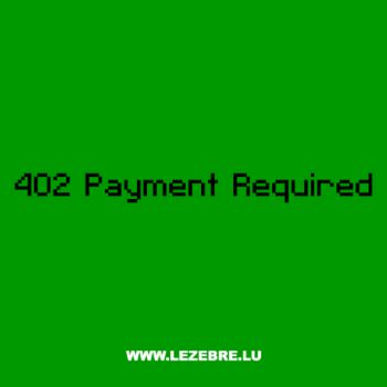 T-Shirt Geek 402 Payment Required