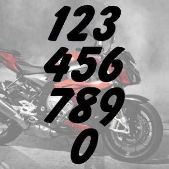 Kit de 2 Stickers numéros cylindrée Moto Moto Cross