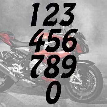 Kit de 2 Stickers numéros cylindrée Moto Dakar