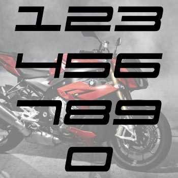 Kit de 2 Stickers numéros cylindrée Moto Sport