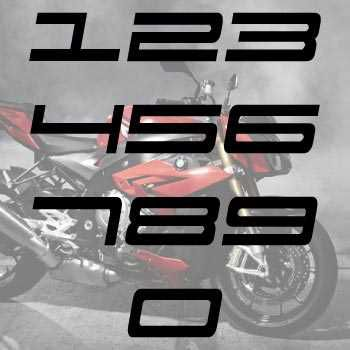 Set of 2 Motorcyles Cylinder decals - Sport