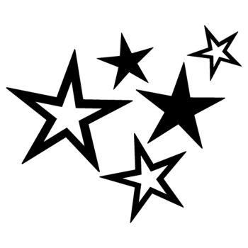 Sticker Sterne Deko Auto Moto