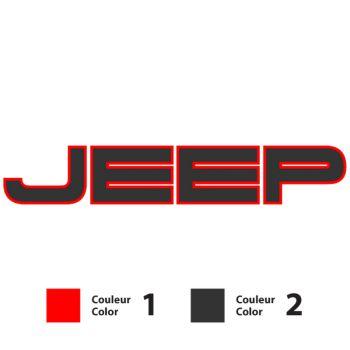 Jeep logo Decal - 2 custom colors