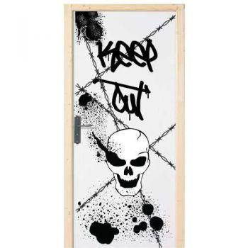 Sticker Déco Porte Chambre garçon KEEP OUT