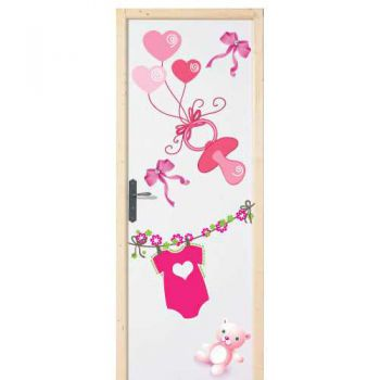 Baby Girl door decal