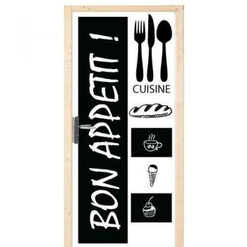 Sticker Déco Porte Cuisine Bon Appétit!