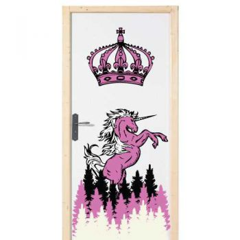 Unicorn door decal