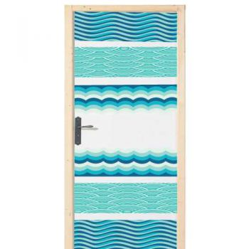 Sea waves door decal