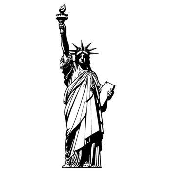 Sticker Deko Statue de la Liberté USA