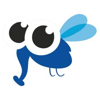 Sticker Petit Insecte Bleu