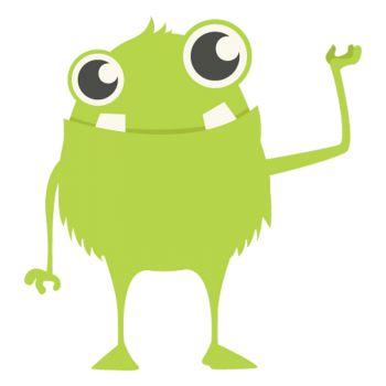sticker Petit Monstre Vert