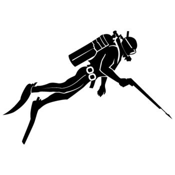 Crossbow diving decorative Decal