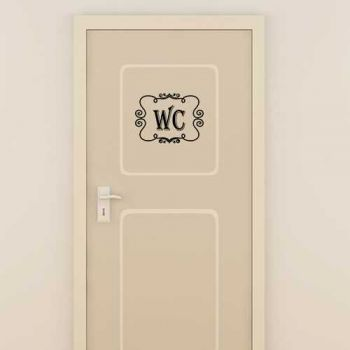 Sticker Porte WC Vintage