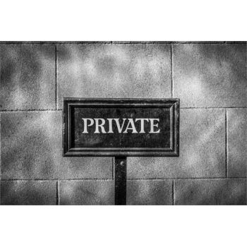 Plaque privé Sticker Déco
