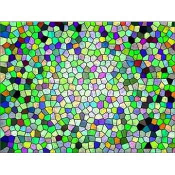 Stained glass colours deco decal 3